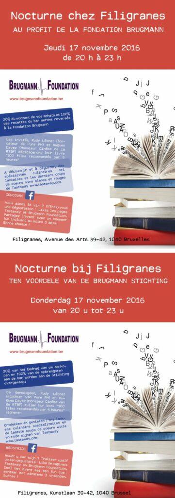 Nocturne chez Filigranes au profit de la Fondation Brugmann