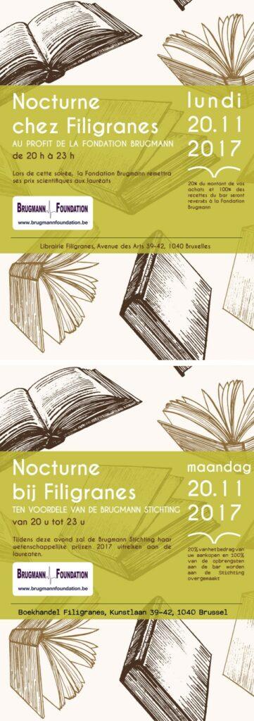 Nocturne in de boekhandel Filigranes ten voordele van de Brugmann Stichting