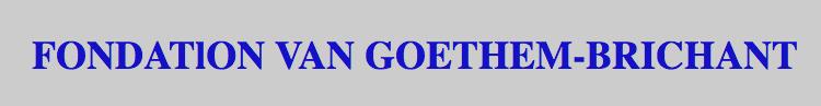 Fondation Van Goethem Brichant
